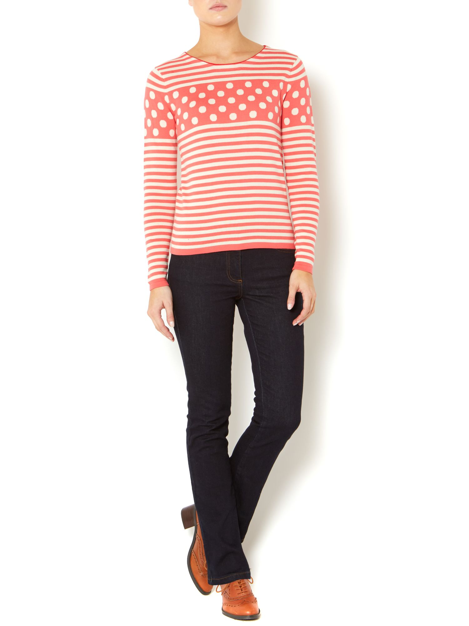 Knitted Spot Stripe Jumper