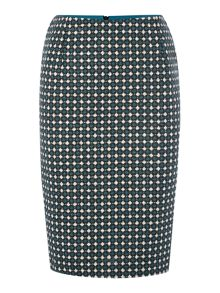 Made in Britain geo pencil skirt