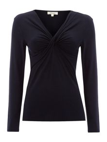 Essential cross front long sleeve jersey top