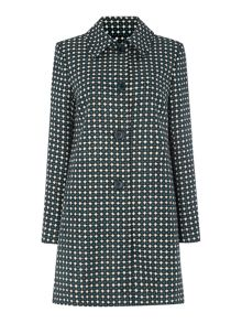 Dickins & Jones British wool geo print coat