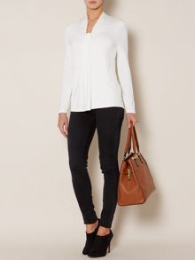 Essential long sleeve knot detail jersey tunic