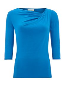 3/4 Sleeve twist cowl top