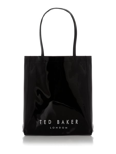 Ted Baker Black medium metallic bow gem icon tote bag