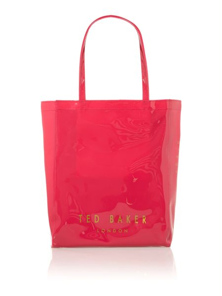 Ted Baker Pink medium metallic bow gem icon tote bag