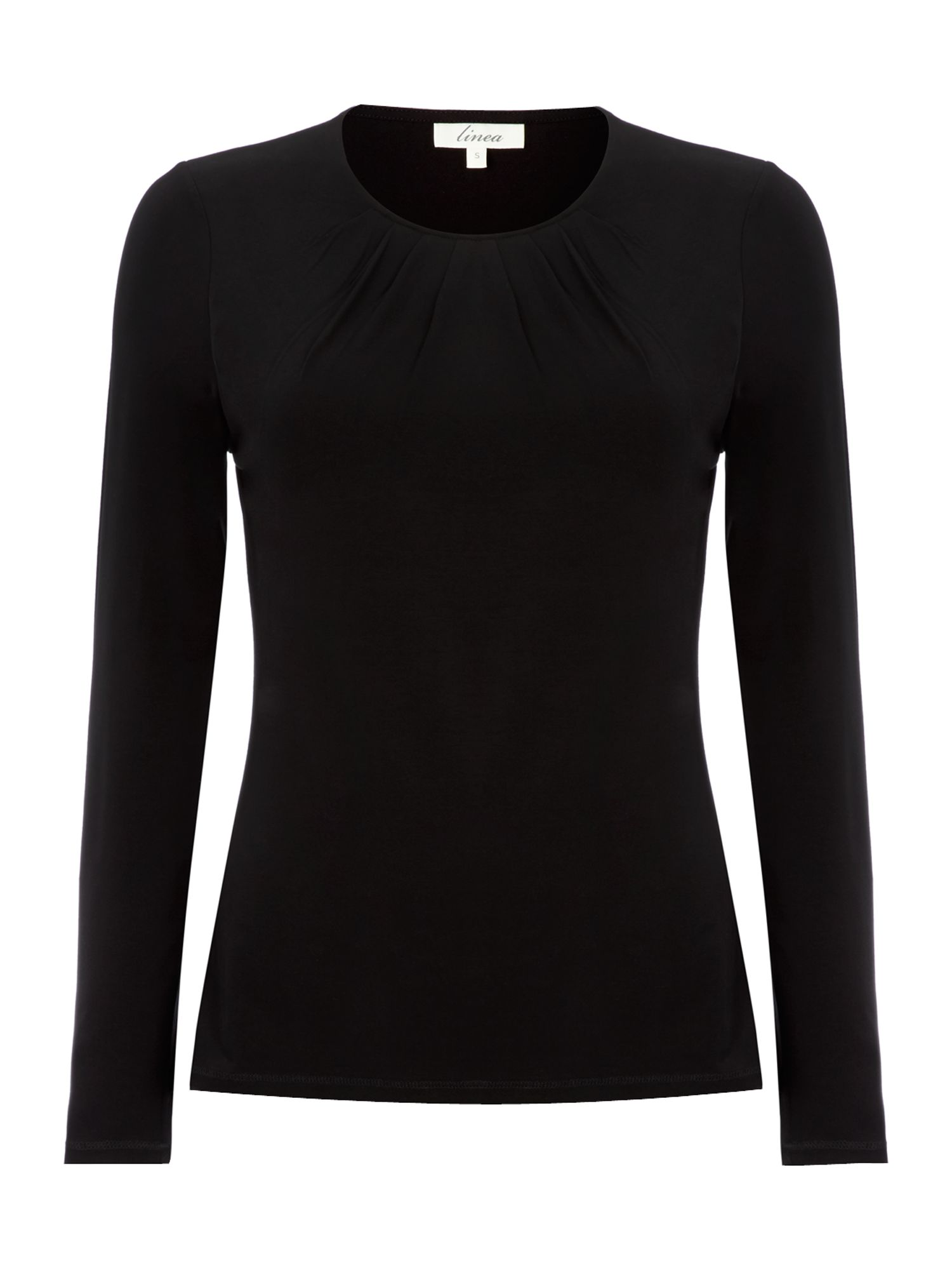 Essential long sleeve pleat front jersey top