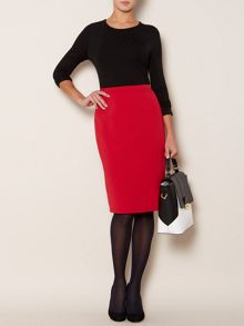 Linea Essential long sleeve pleat front jersey top