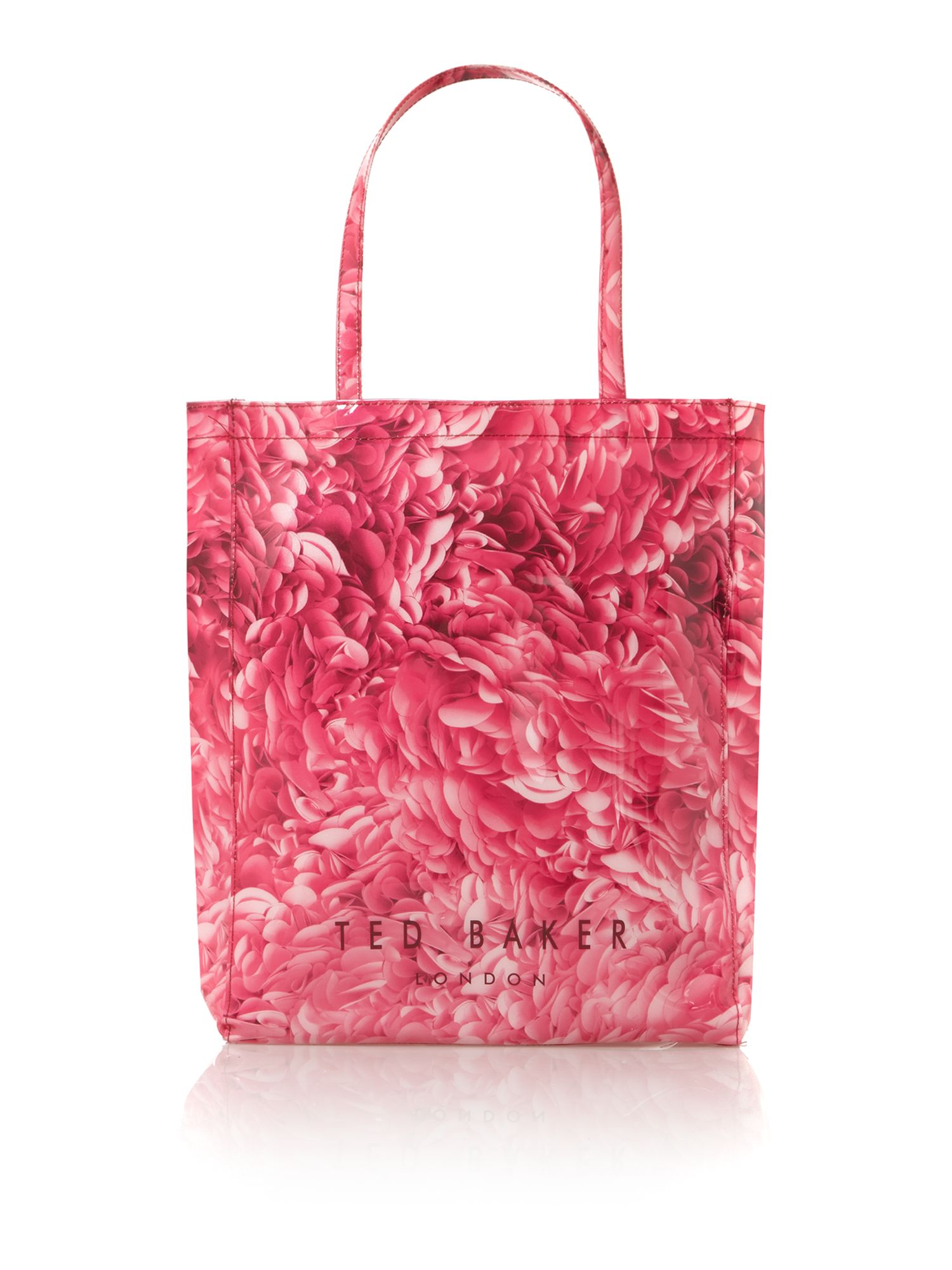 Exclusive rosette printed icon tote bag