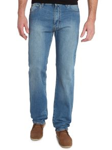 J31 regular fit light wash jeans