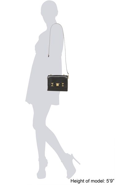 Ted Baker Small black crossbody bow leather bag