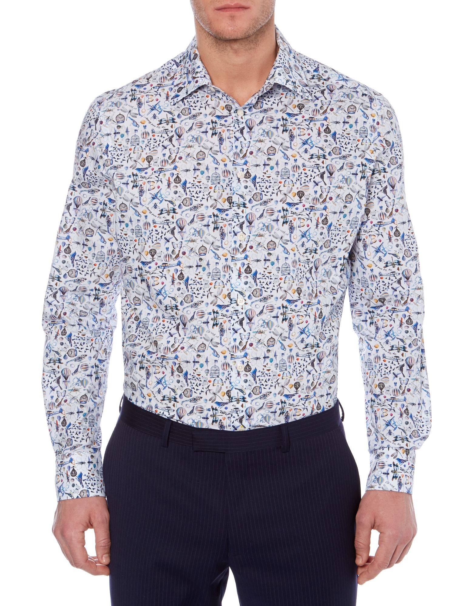 Cocker Flying Print Shirt