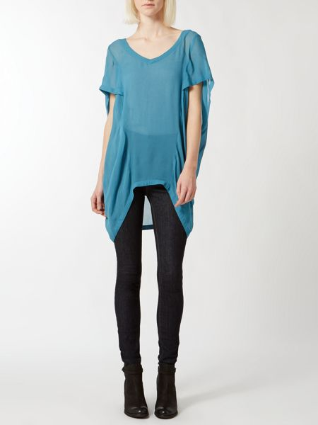 Label Lab Overlap sleeve blouse