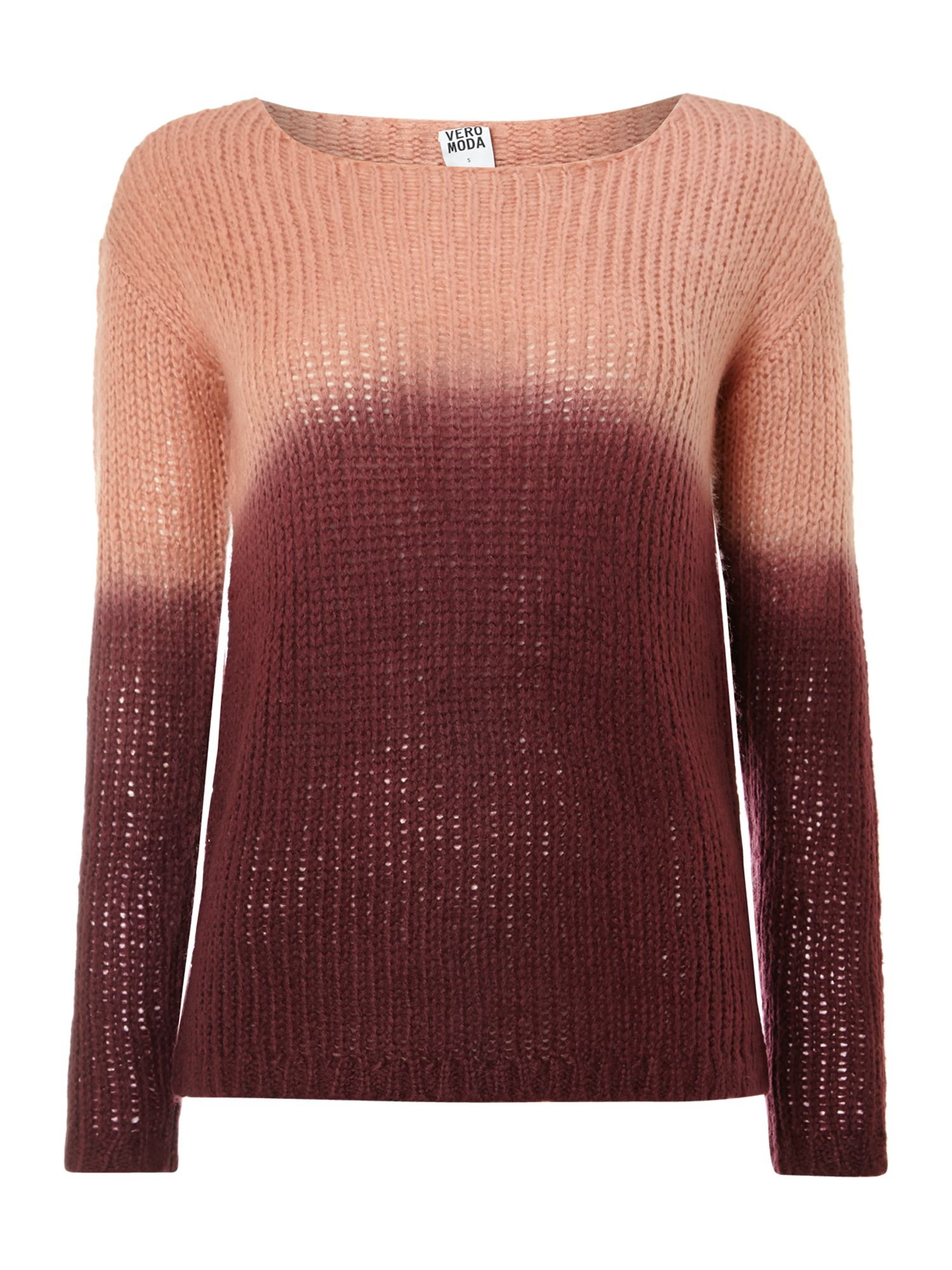 Shorna long sleeve dip dye jumper