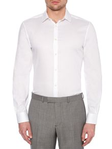 Kenneth Cole Kline Poplin Penny Collar Stripe Shirt