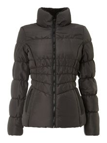 Bib funnel neck padded jacket