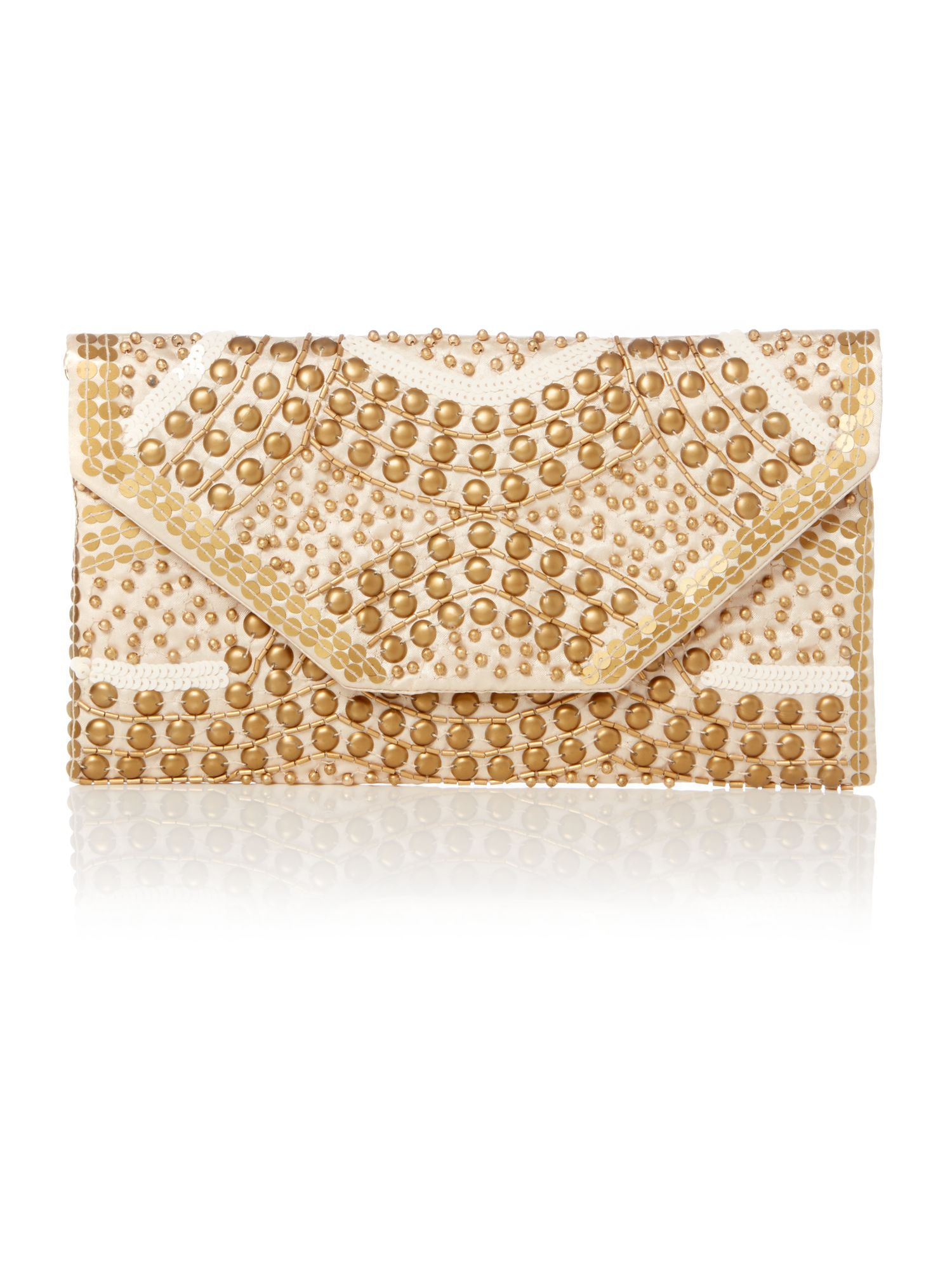 Jade stud clutch bag