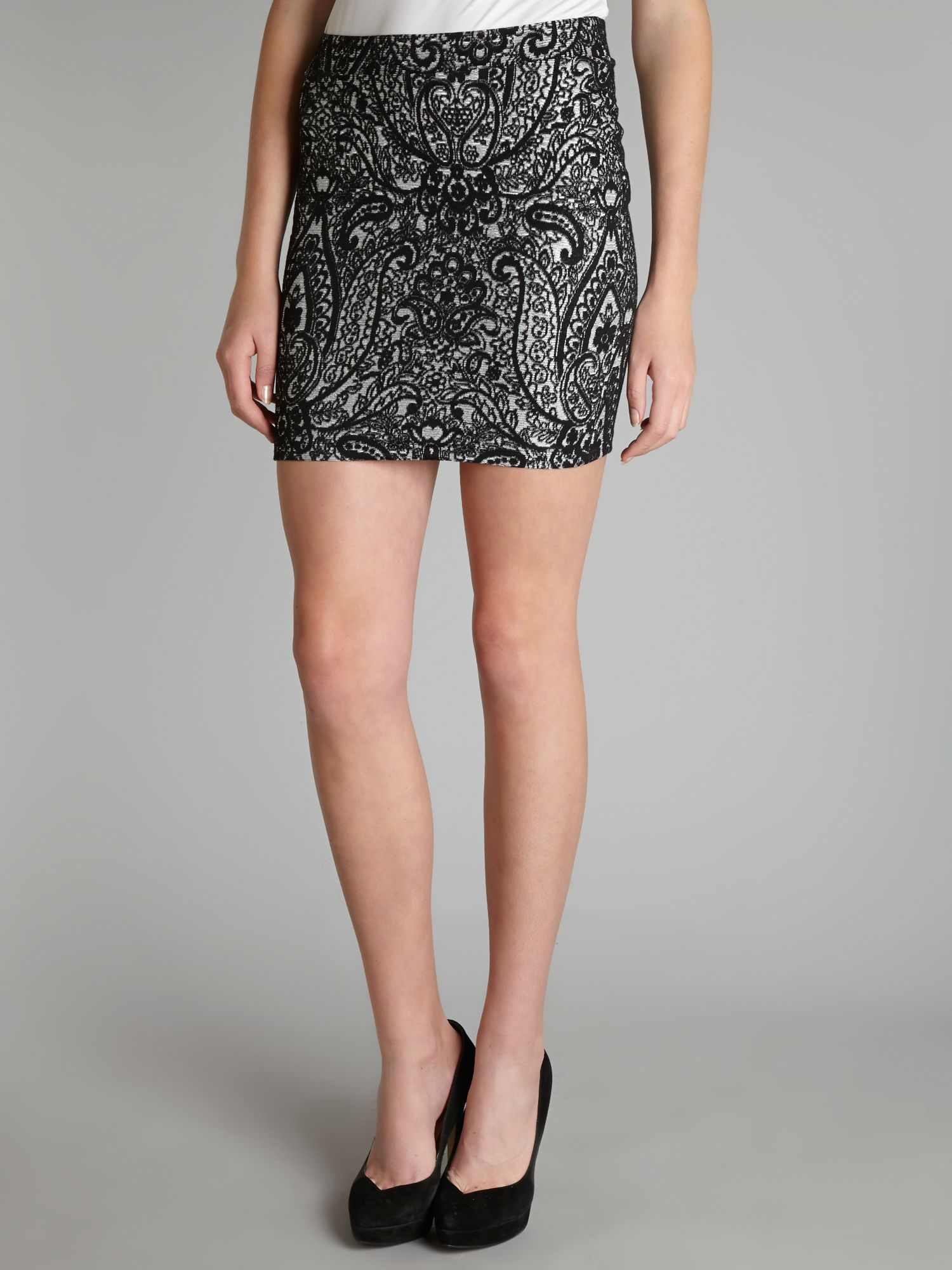Lace bodycon skirt