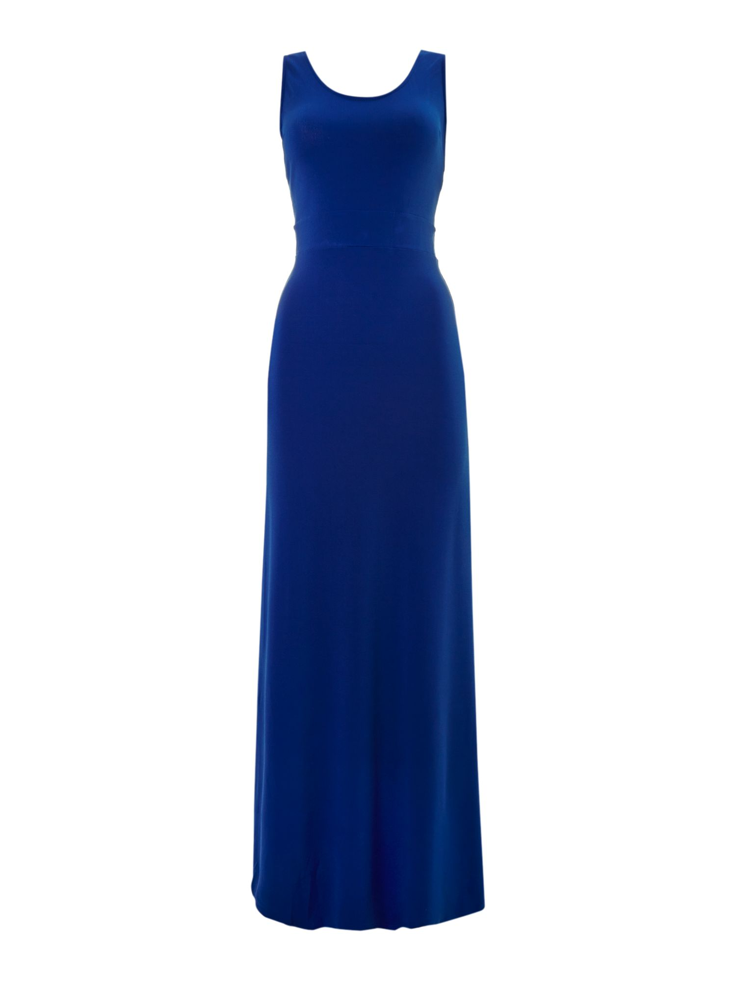 Cross back jersey maxi dress