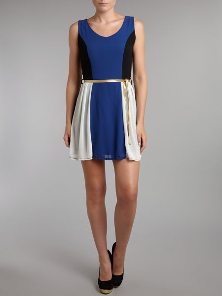 Wal-G Colour block mini dress