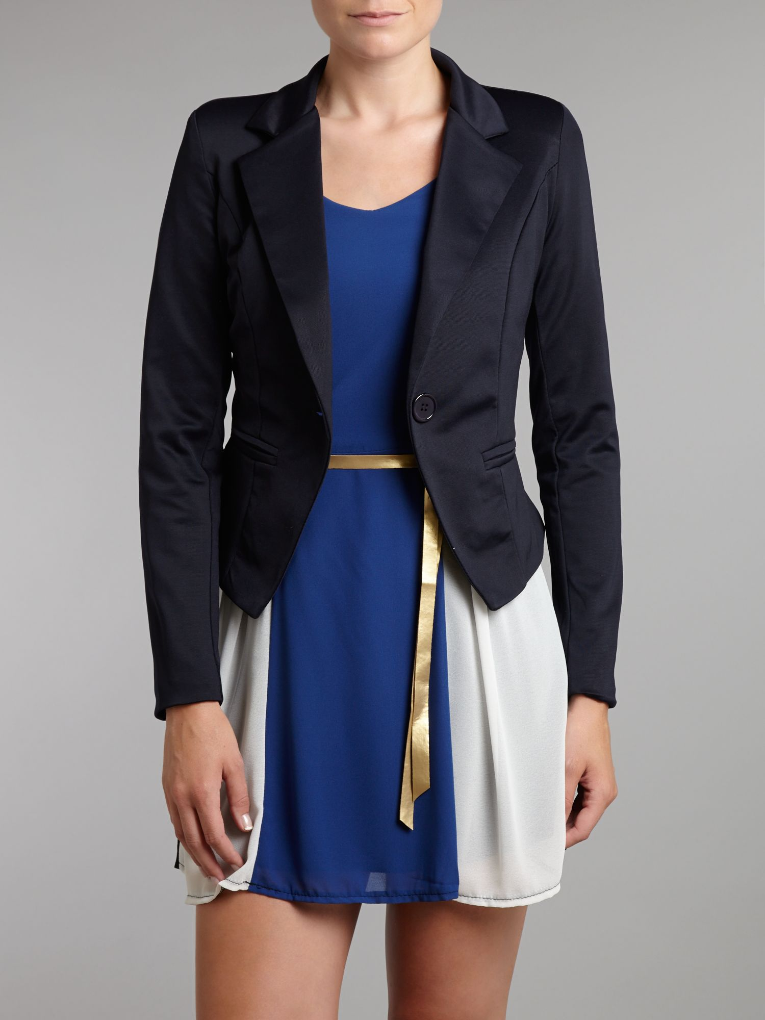 Ruched sleeved jacket