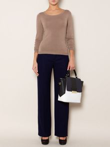 Susan buckle trim trouser- 32