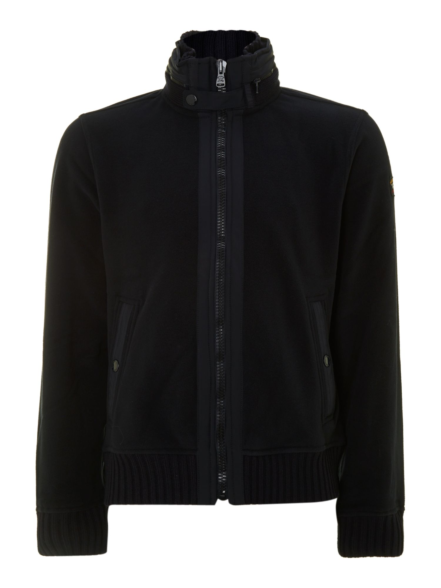 Hideaway hooded zip through sweatshirt
