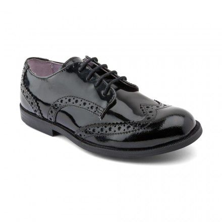 Junior girl`s burford patent shoes