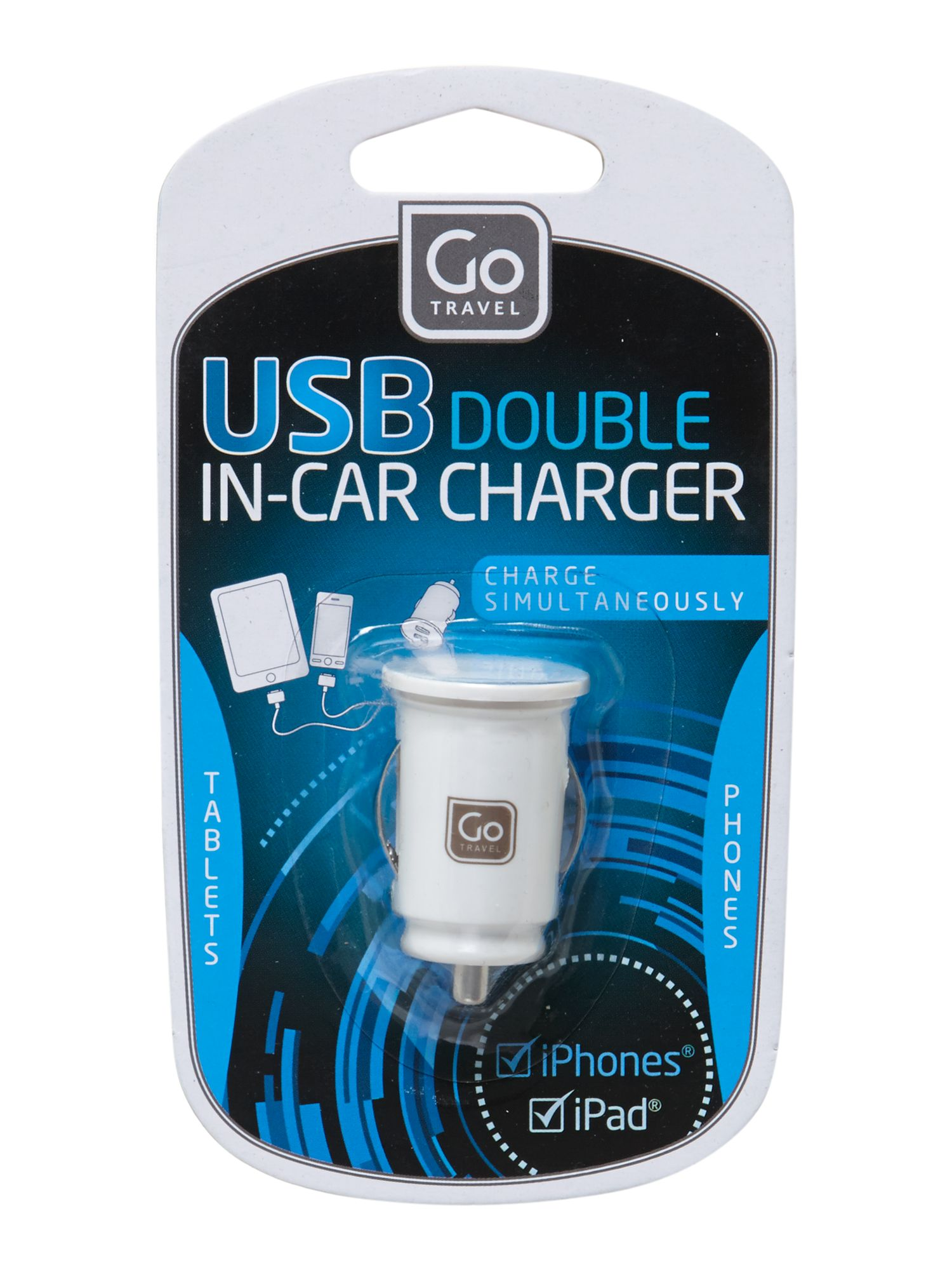 Go Travel USB In- car charger