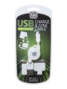 USB 43 charging cable set
