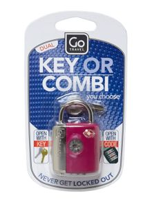 Dual combination key TSA luggage lock