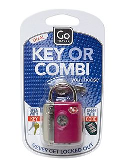 Go Travel Dual combination key TSA luggage lock
