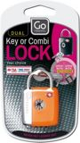 Picture of Dual combination key padlock, assorted colours
