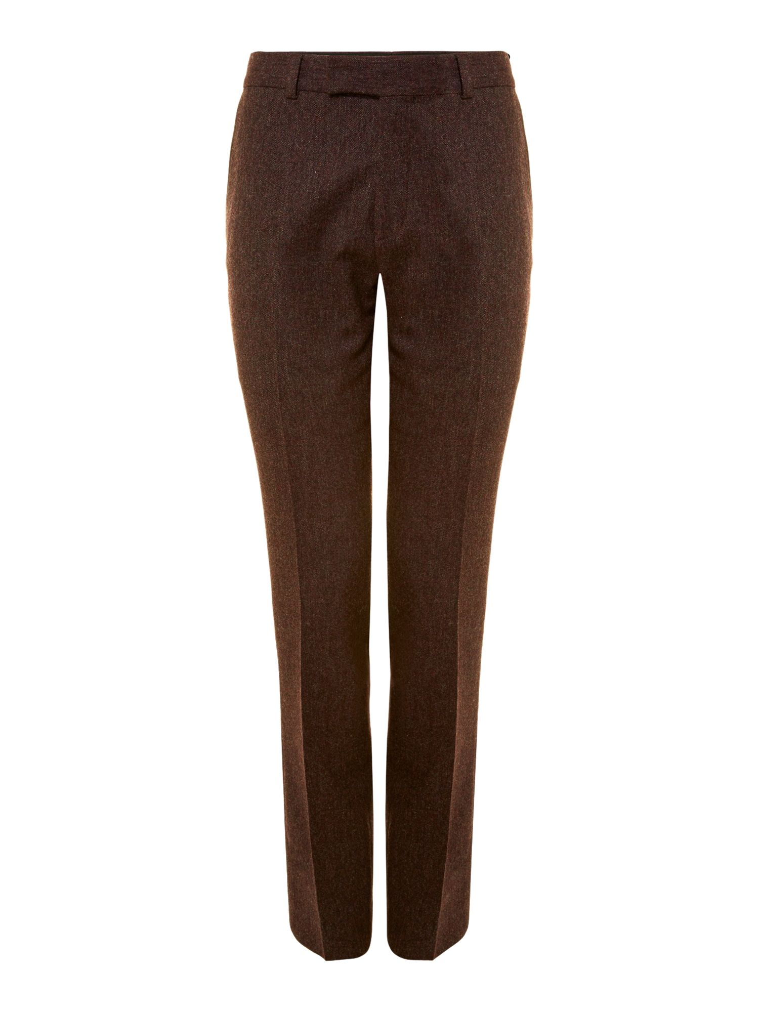 British tweed slim suit trousers