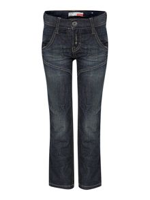 name it Boys regular fit mid wash jeans