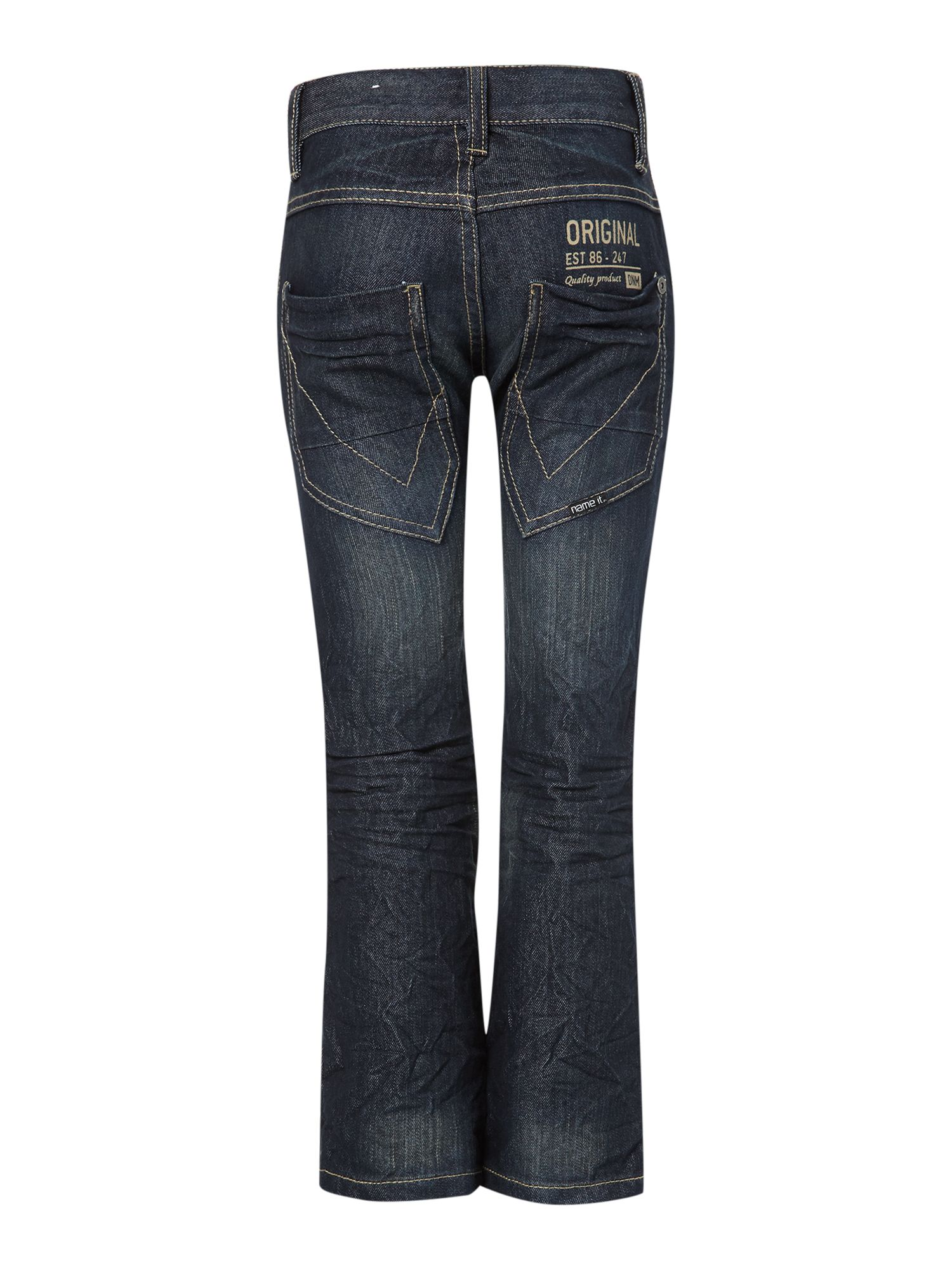 Boy`s reg fit mid wash jeans