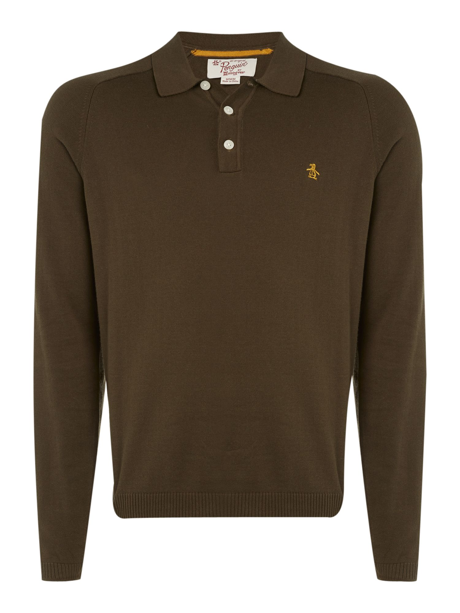 Long sleeve sweater polo