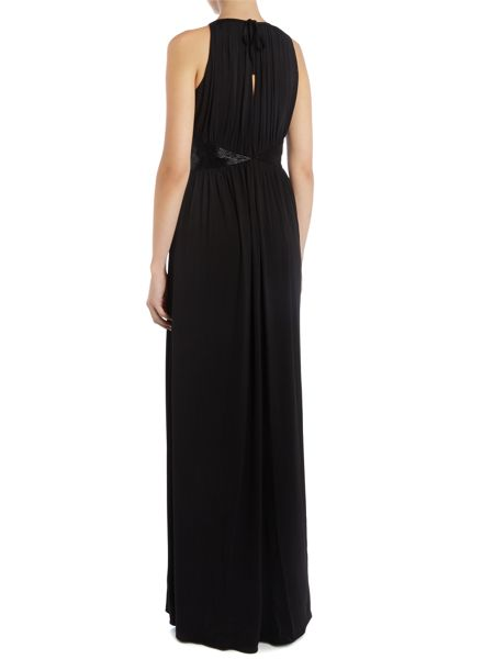 JS Collections Beaded Waist Full Length Gown