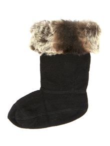 Unisex faux fur sock
