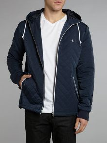 Quilted hooded ratner jacket