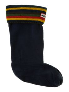 Girl`s knitted stripe sock