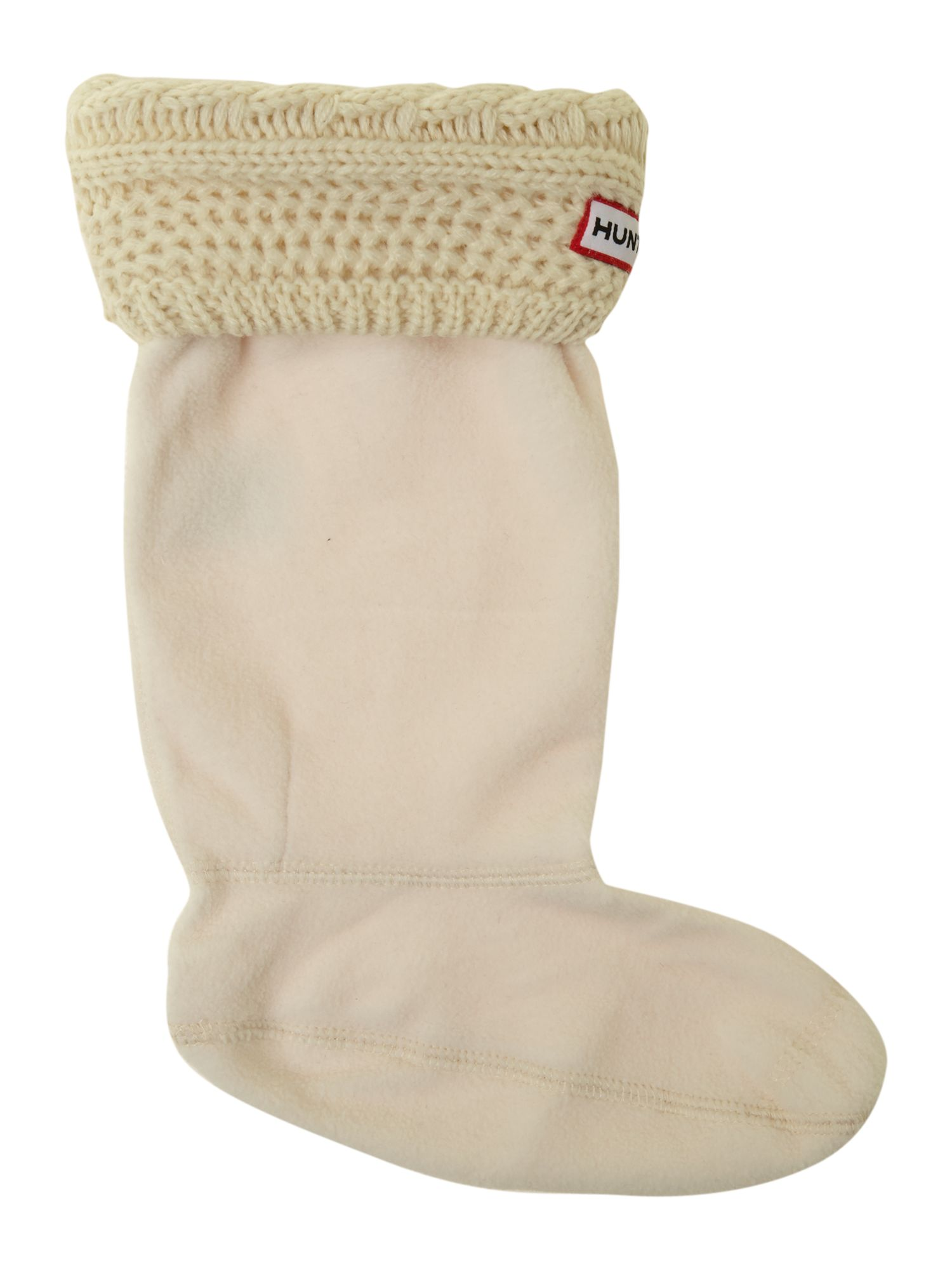Unisex cable knit sock