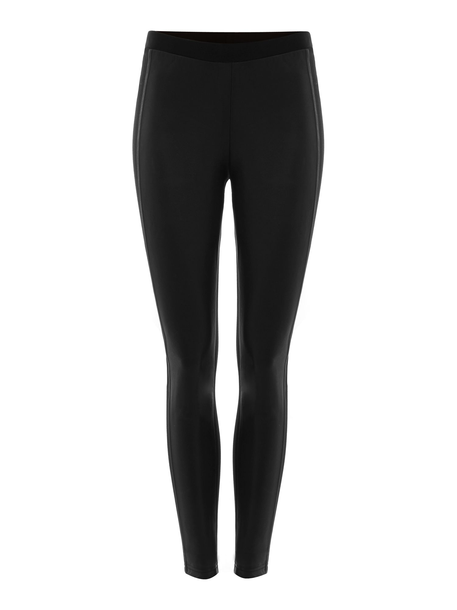 PU panelled leggings