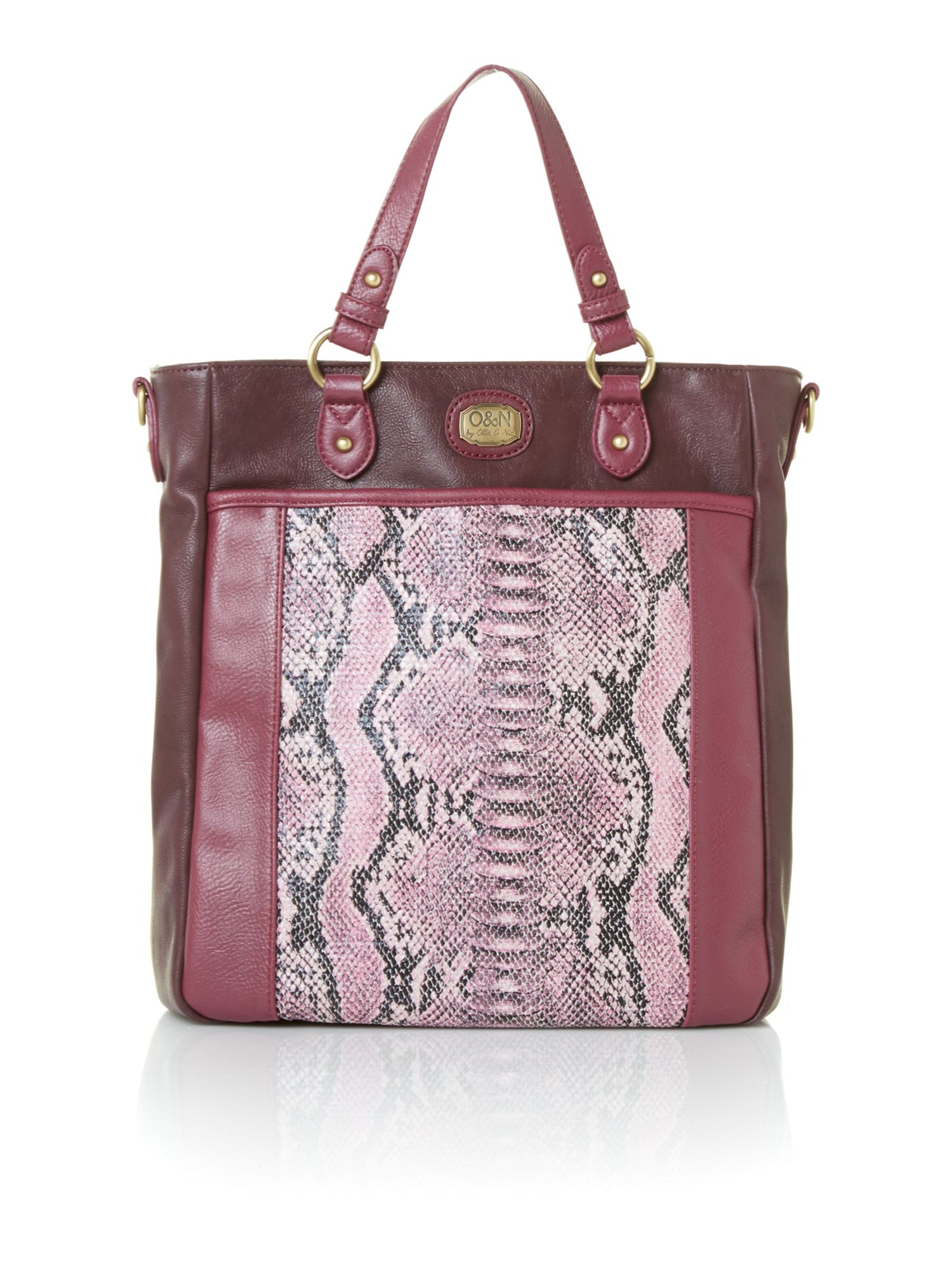 Arthur purple snake print tote bag