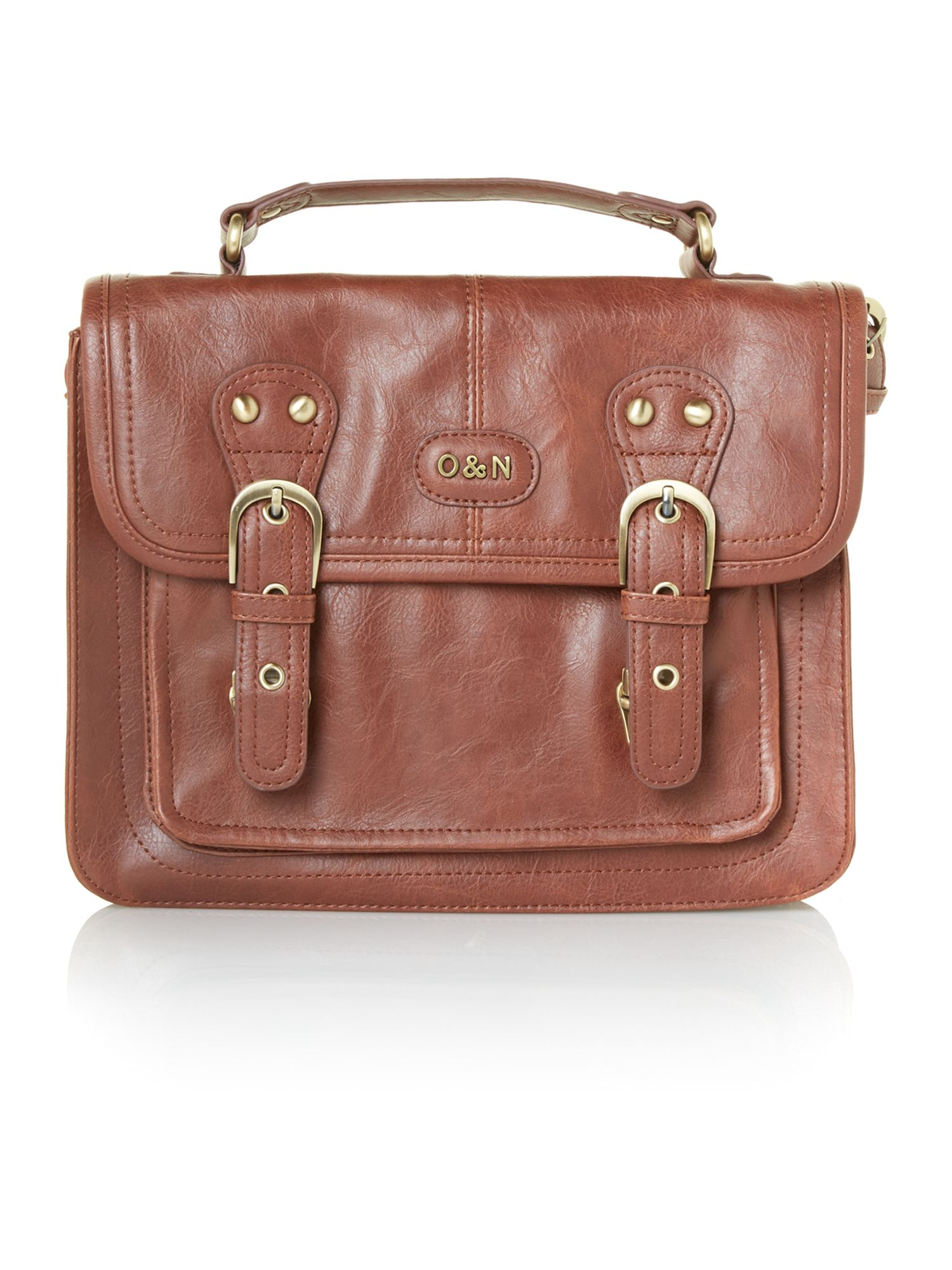 Georgina tan small satchel bag