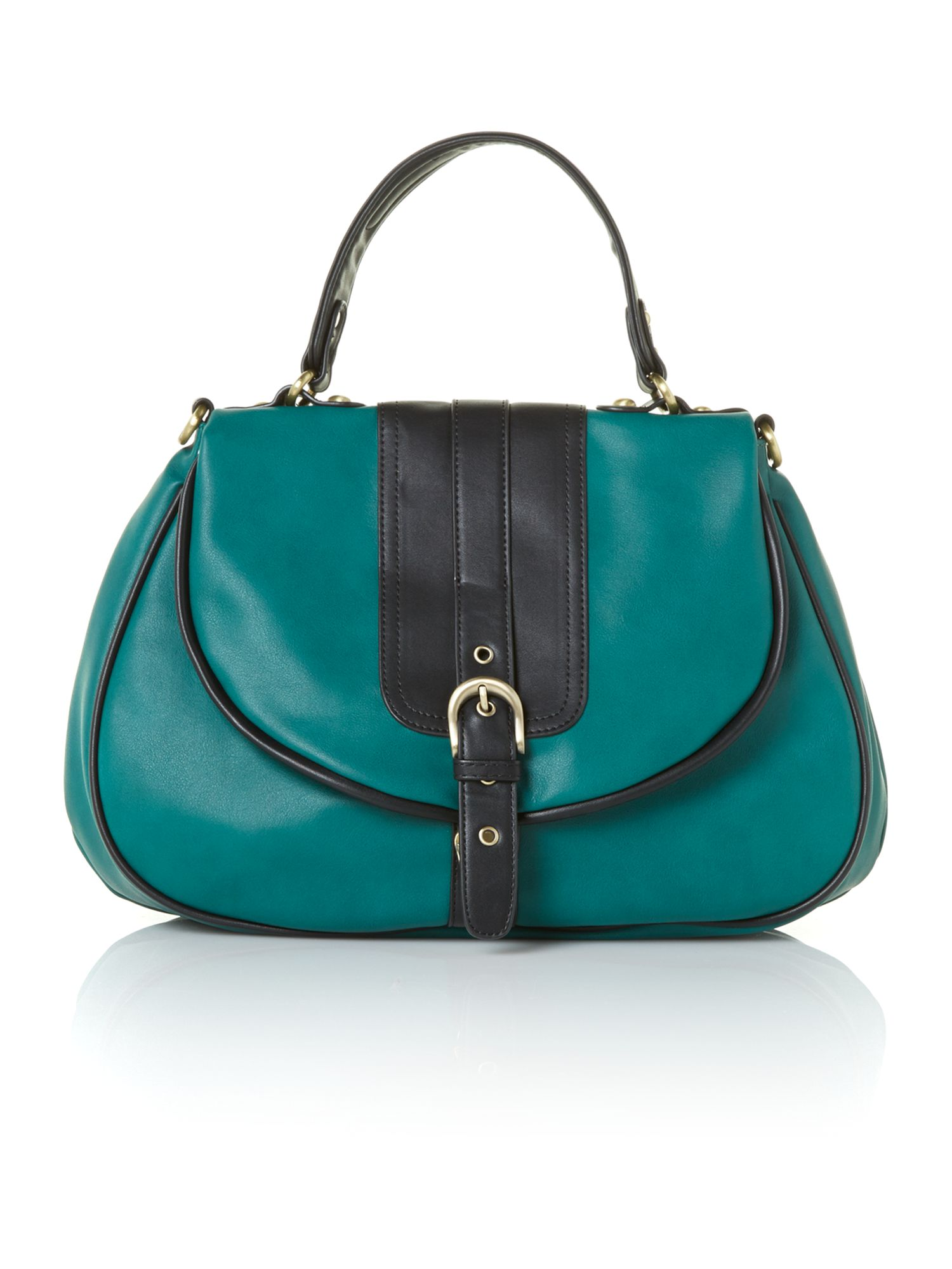 Harrie green satchel bag