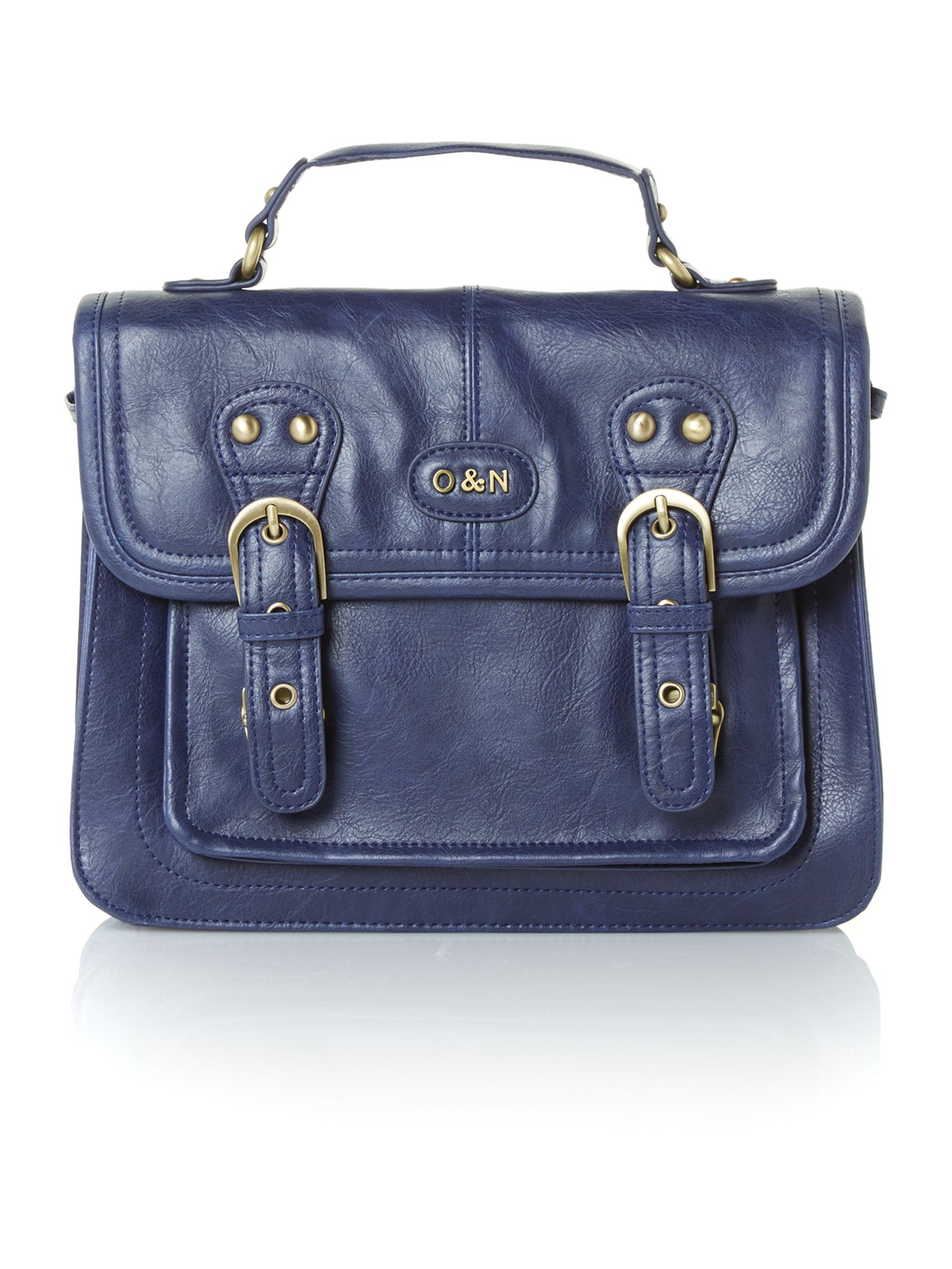 Georgina blue small satchel bag