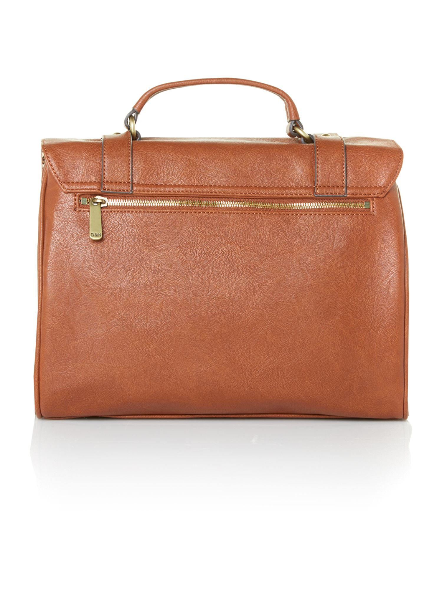 Hugo tan large satchel bag