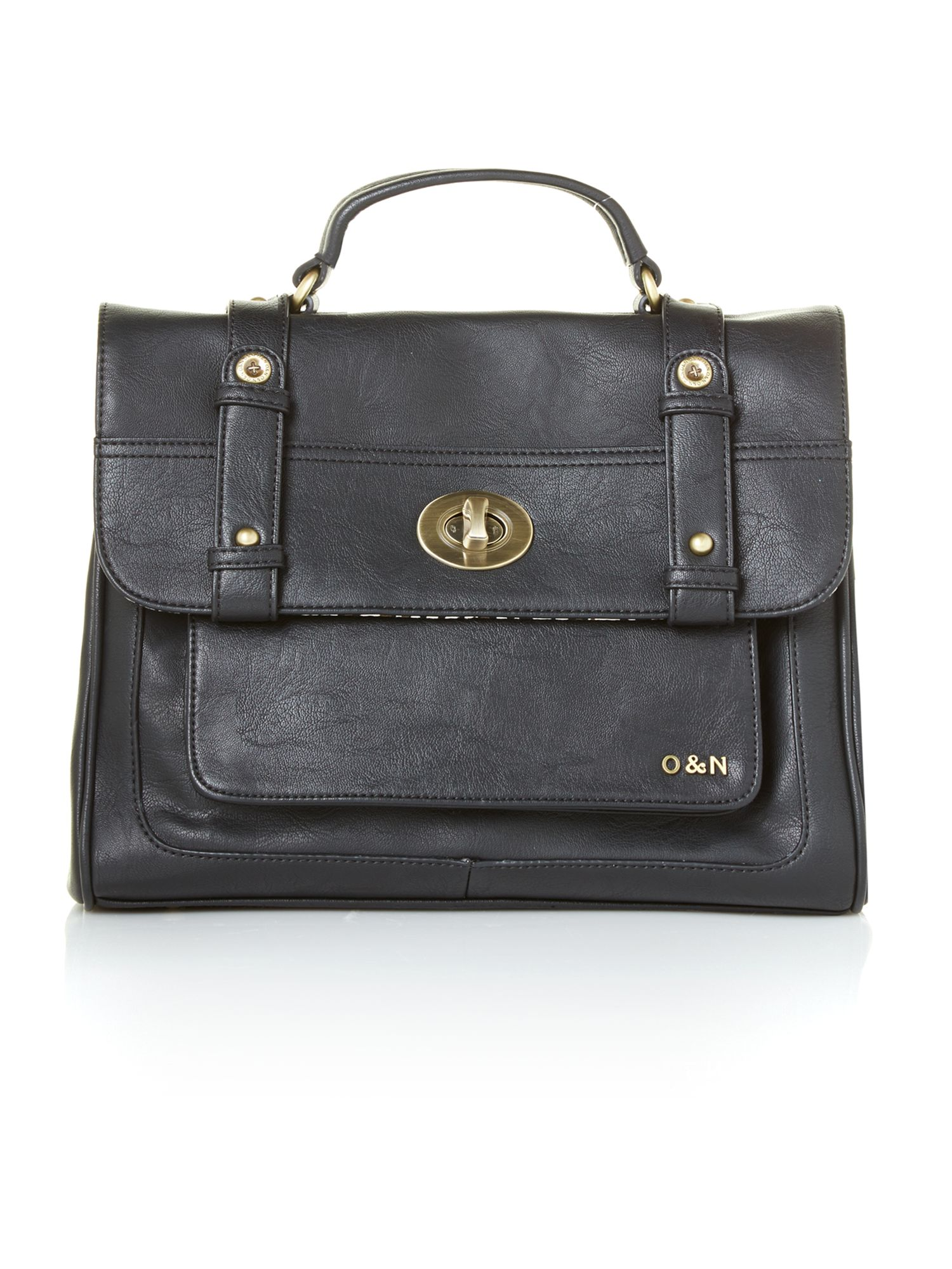 Hugo black large satchel bag