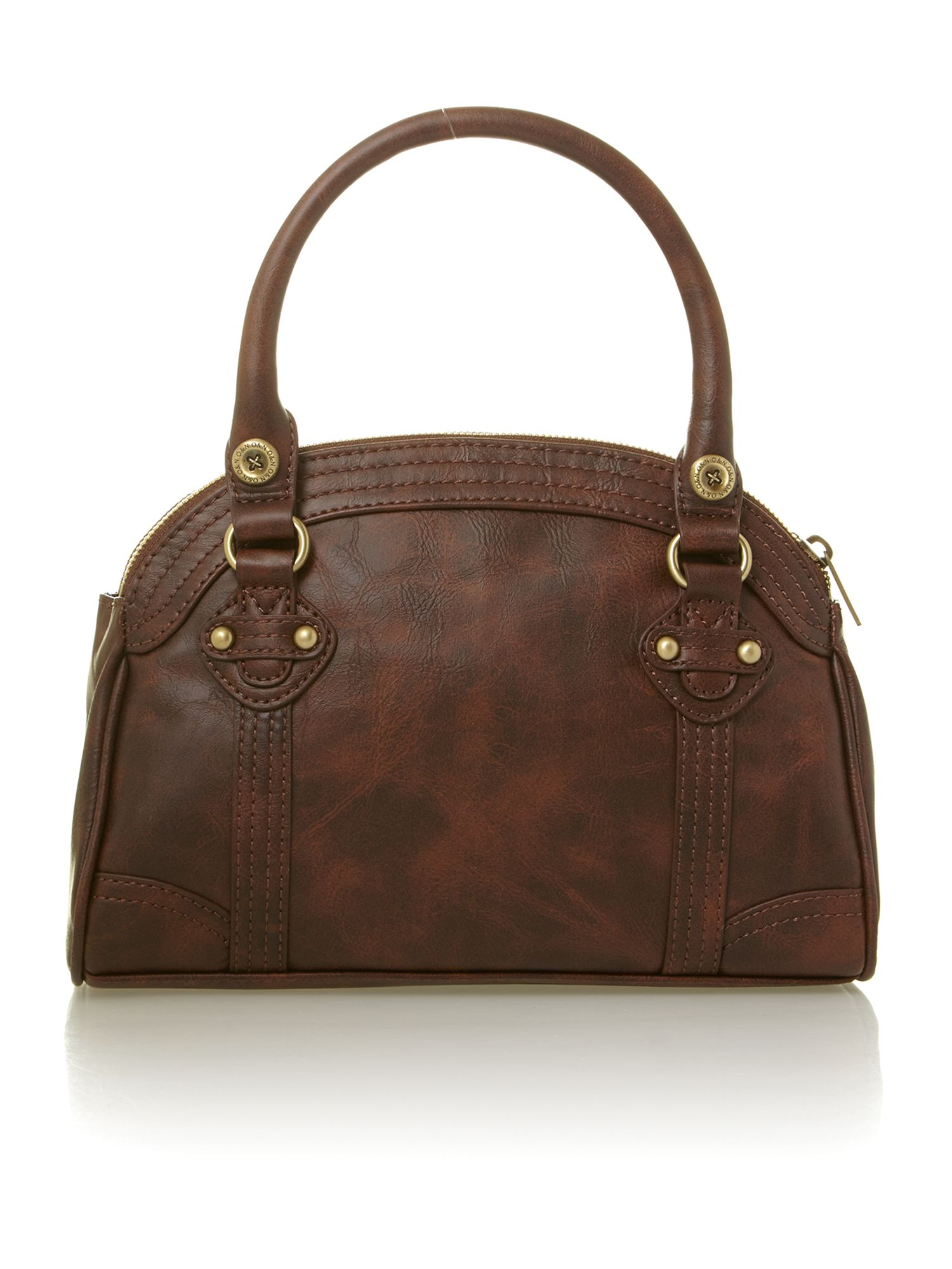 Libby mini tan bowling bag