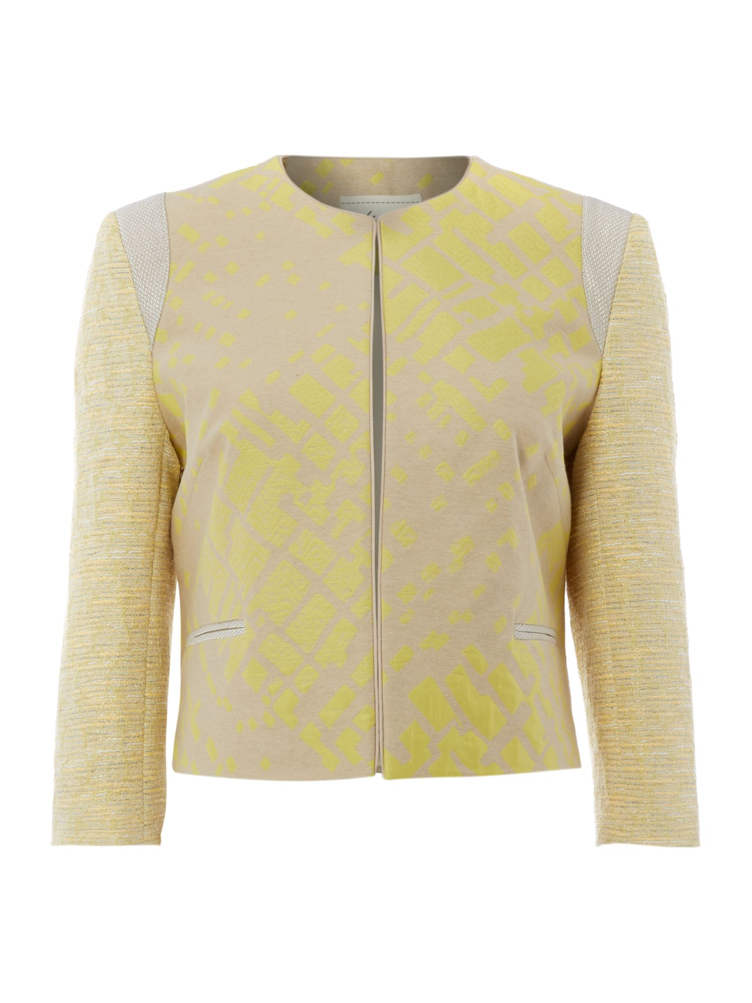 Angelica edge to edge tweed mix jacket