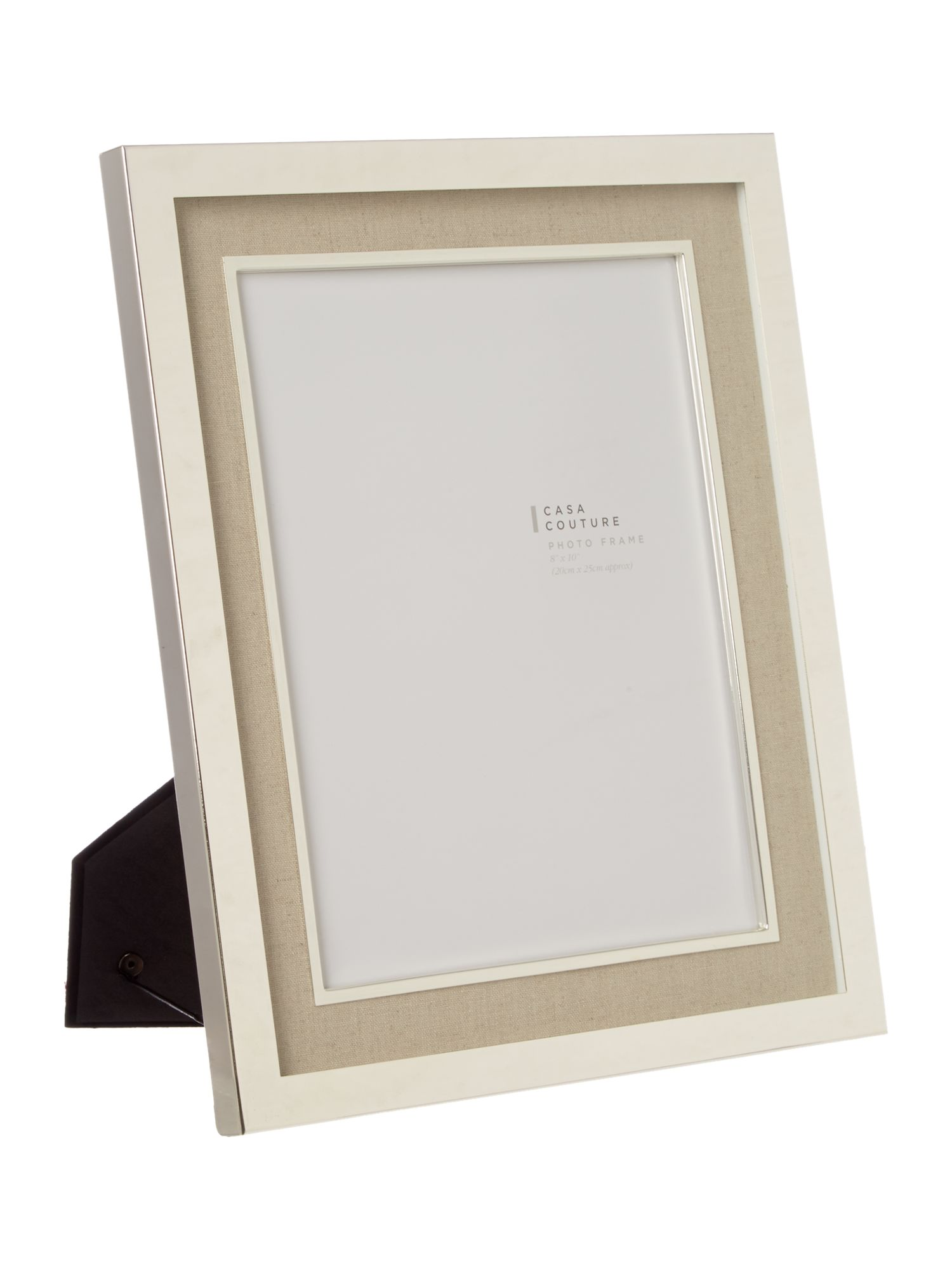 Cream fabric photo frame 8x10